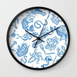 Sailor Tales Pattern Wall Clock