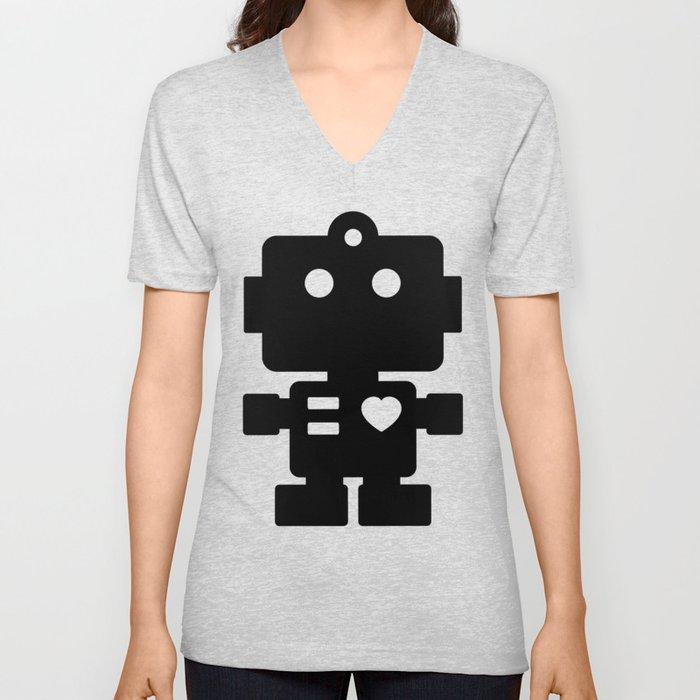 Cute Robot Unisex V-Ausschnitt