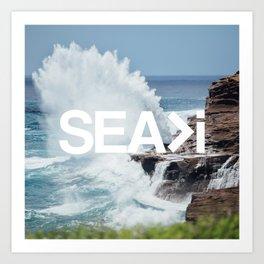 SEA>i   HEAVEN'S POINT Art Print