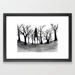 2:45 am (when human's sleep) Framed Art Print