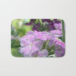 Verbena Floral Print Bath Mat