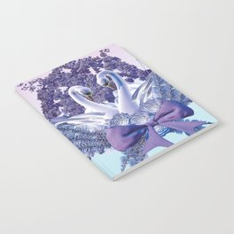 romantic swan couple Notebook