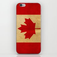 canada iPhone & iPod Skins featuring Canada by NicoWriter