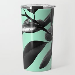 Ficus Elastica Beach Vibes #2 #foliage #decor #art #society6 Travel Mug