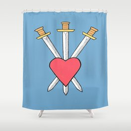 3 of SWORDS Shower Curtain