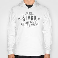 house stark Hoodies featuring House Stark Typography by P3RF3KT