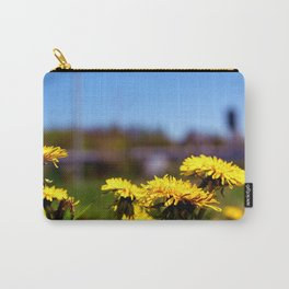 Concept flora . Dandelions in a field Carry-All Pouch