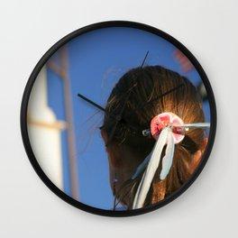 Girl Feather Headdress Wall Clock