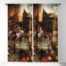 "Hieronymus Bosch ""Temptation of Saint Anthony"" (Antiga) 1 central panel Blackout Curtain"