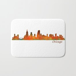 Chicago City Skyline Hq v1 Bath Mat