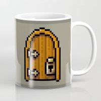door Mugs featuring Door by HOVERFLYdesign