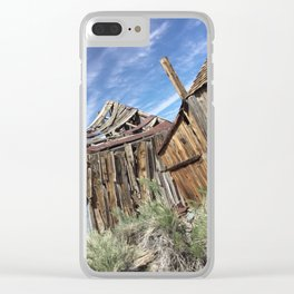 Ghost town time standing still Clear iPhone Case