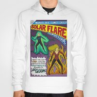 comic book Hoodies featuring Comic Book Poster by Not Too Shabby