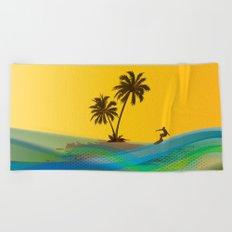 Surfer Beach Towel