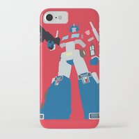 optimus prime iPhone & iPod Cases featuring Transformers G1 - Optimus Prime by TracingHorses
