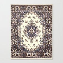 V8 Moroccan Epic Carpet Texture Design. Canvas Print