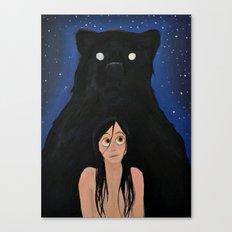 Bear Night Canvas Print