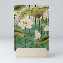 Lotus flowers D - Minhwa-Korean traditional/folk art Mini Art Print