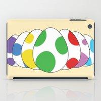 yoshi iPad Cases featuring Yoshi eggs by Joe Love