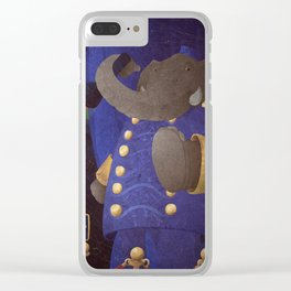 A-Z Animal, Elephant U**er - Illustration Clear iPhone Case