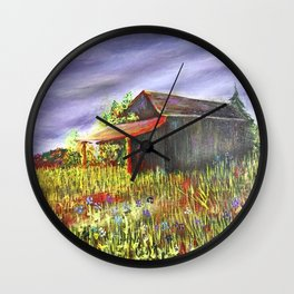 peace and poppies Wall Clock