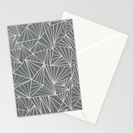 Ab Fan Grey And Nude Stationery Cards