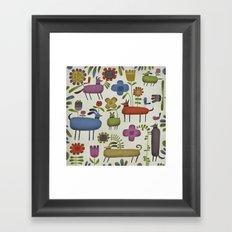 DOG GARDEN Framed Art Print