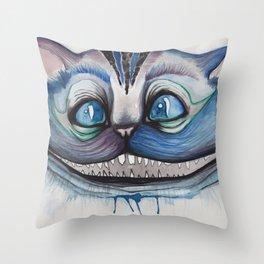 Cheshire Cat Grin - Alice in Wonderland Throw Pillow