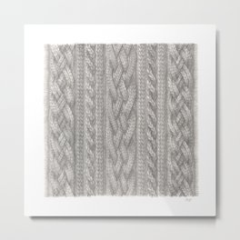 Cable Knit Metal Print