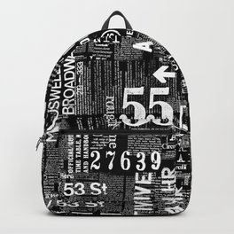 Black And White Grunge Text Backpack