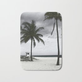 Miami stormy beach Bath Mat