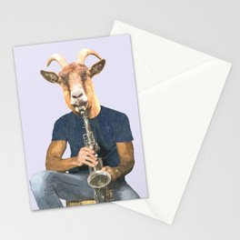 Goat Musician Stationery Cards