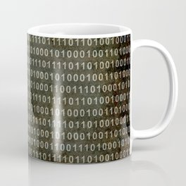 The Binary Code - Dark Grunge version Coffee Mug