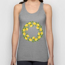 Watercolor Lemons Unisex Tank Top