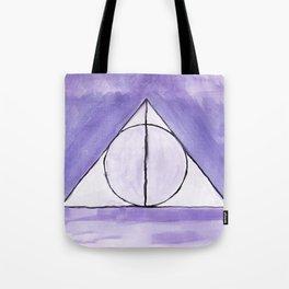 Purple Deathly Hallows Tote Bag