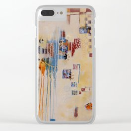 """Falling into Place"" Clear iPhone Case"