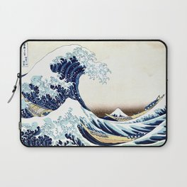 The Great Wave off KanagawA muted Laptop Sleeve