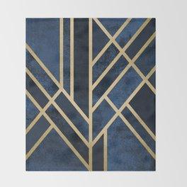 Art Deco Midnight Throw Blanket