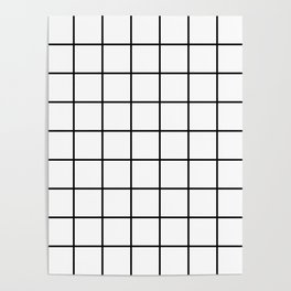 Black and White Grid Poster