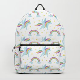 Cute abstract magical pink rainbow unicorn pattern Backpack