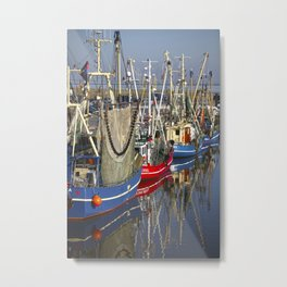 Vintage ships in Northsea harbour Metal Print