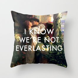 Romeo and Juliet in a World Alone Throw Pillow