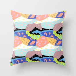 Abstract Postmodern Landscape Throw Pillow