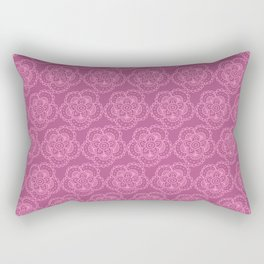 Doodle floral coordinate purple lace Rectangular Pillow