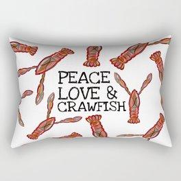 Peace, Love & Crawfish Beaucoup II Rectangular Pillow