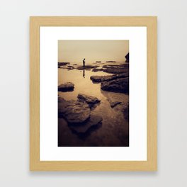 looking down Framed Art Print