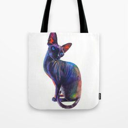 Black sphynx Tote Bag
