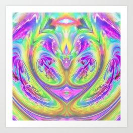Psychedelic Alien Life Art Print