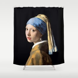 Girl with a Pearl Earring - Jonah Vermeer Shower Curtain