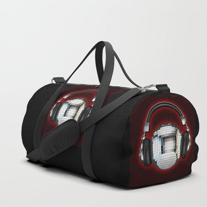 Headphone disco ball Duffle Bag